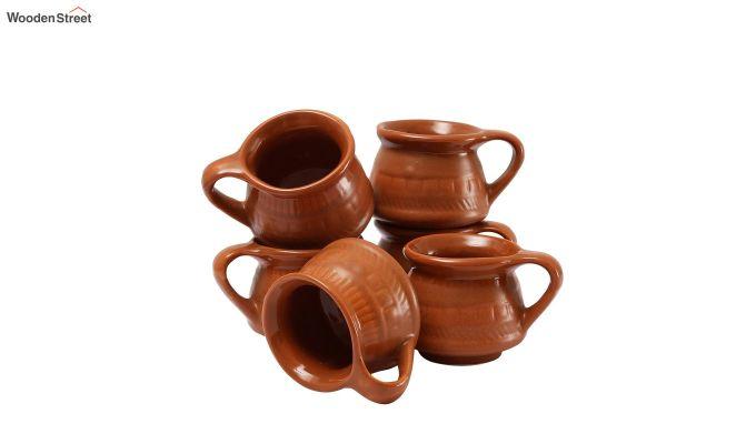 Ceramic Brown 100 ML Cups - Set of 6-3