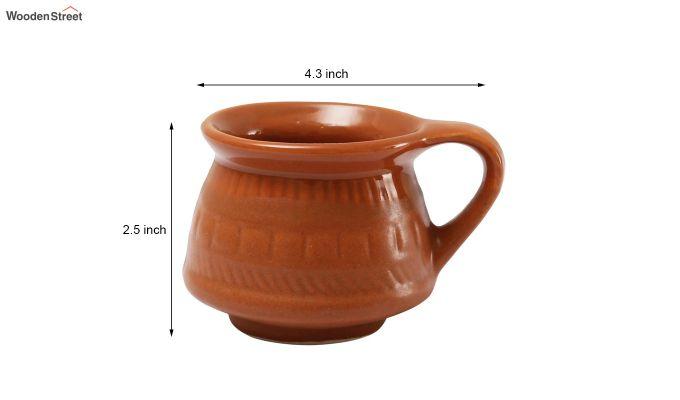 Ceramic Brown 100 ML Cups - Set of 6-6