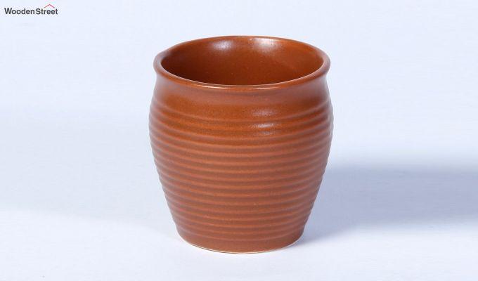 Ceramic Brown 150 ML Cups - Set of 6-3