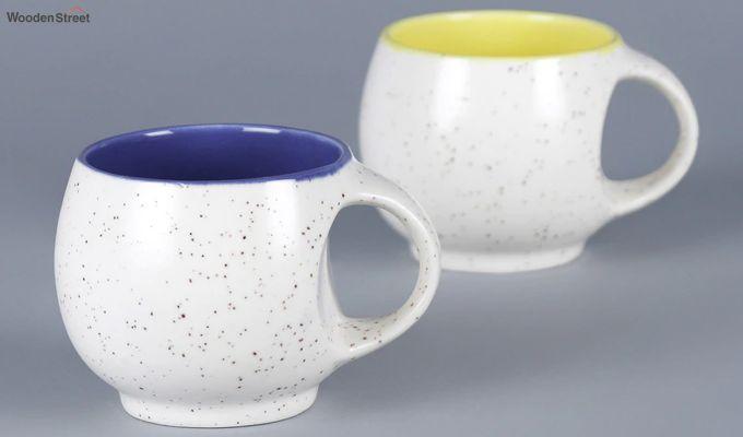 Ceramic White 180 ML Cups - Set of 6-3