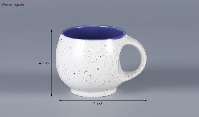 Ceramic White 180 ML Cups - Set of 6-5