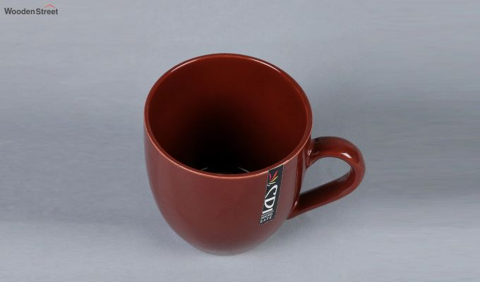 Stoneware 200 ML Multicolour 6 Cups with Tray-5