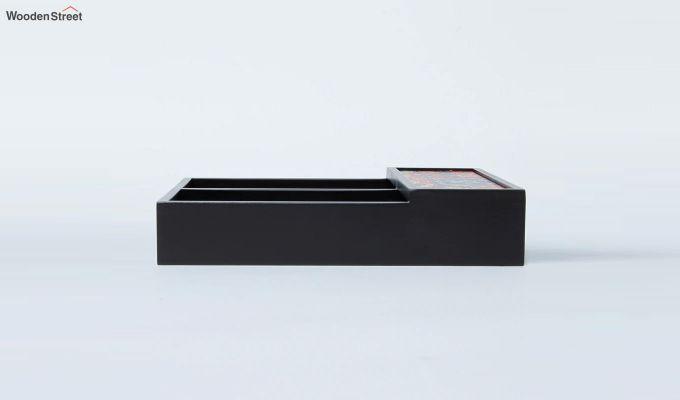 Black Multipurpose Wooden Cutlery Holder-4