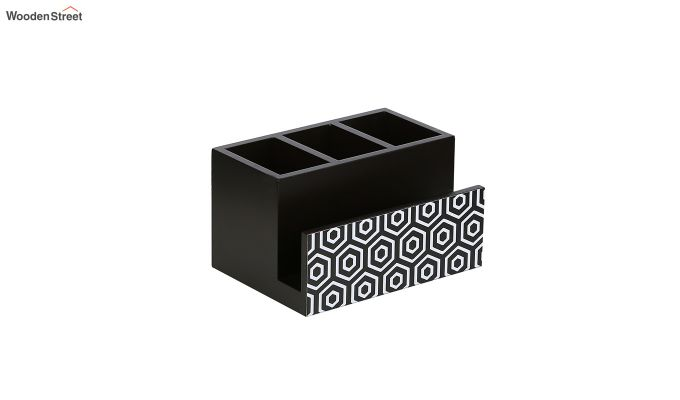 Multipurpose Black & White MDF Cutlery Holder-2
