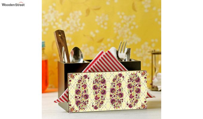 Red MDF Cutlery Holder-1