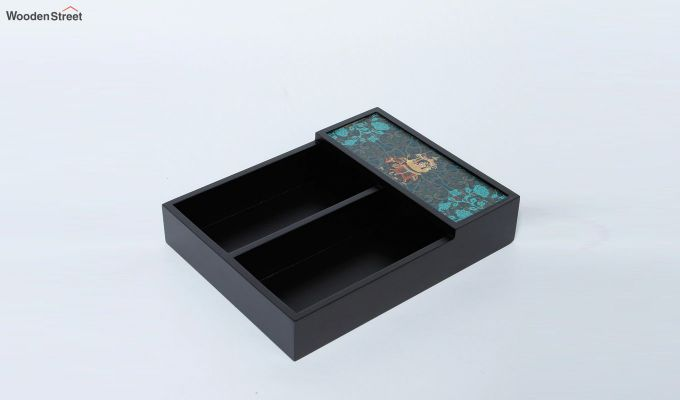Wooden Black Cutlery Holder-2
