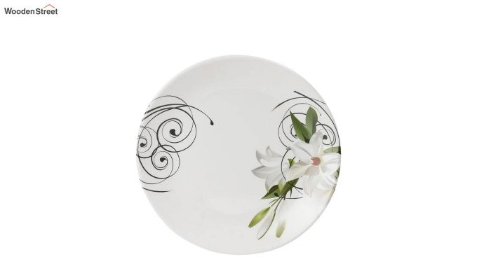 Melamine Green Olives Print Dinner Set - 33 Pieces-4
