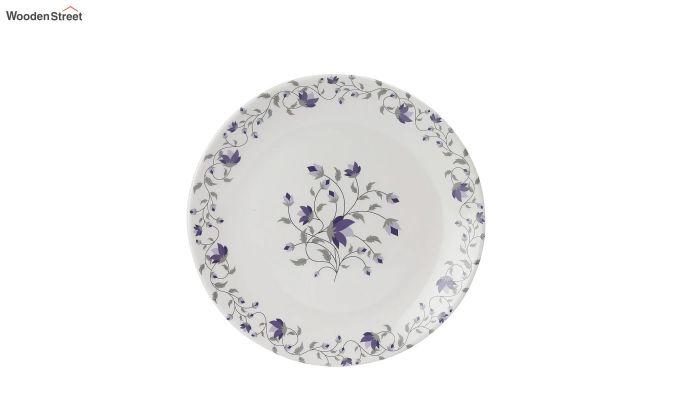 Melamine White Blue D Core Dinner Set - 33 Pieces-4