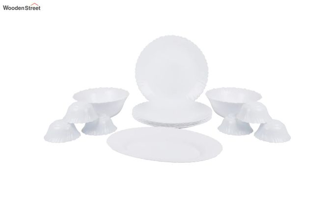 Opalware White Dinner Set - 15 Pieces-2