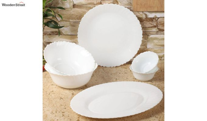 Opalware White Dinner Set - 15 Pieces-1