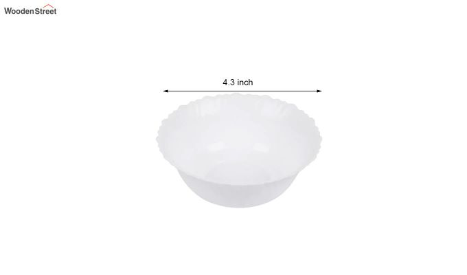 Opalware White Dinner Set - 19 Pieces-6