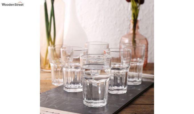 350 ML Ora Premium Quality Everyday Glasses - Set of 6-1