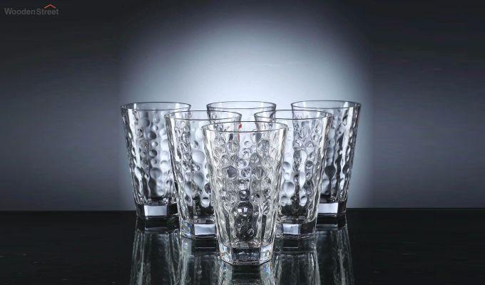 400 ML Zig Zag Shape Everyday Glasses - Set of 6-2