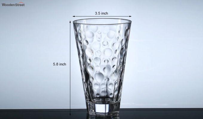 400 ML Zig Zag Shape Everyday Glasses - Set of 6-5