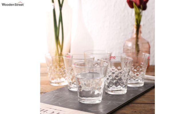 Stoneware 300 ML Ora Bubble Shape Everyday Glasses - Set of 6-1