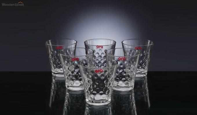 Stoneware 300 ML Ora Bubble Shape Everyday Glasses - Set of 6-2