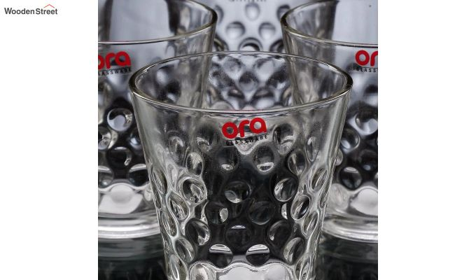 Stoneware 300 ML Ora Bubble Shape Everyday Glasses - Set of 6-4