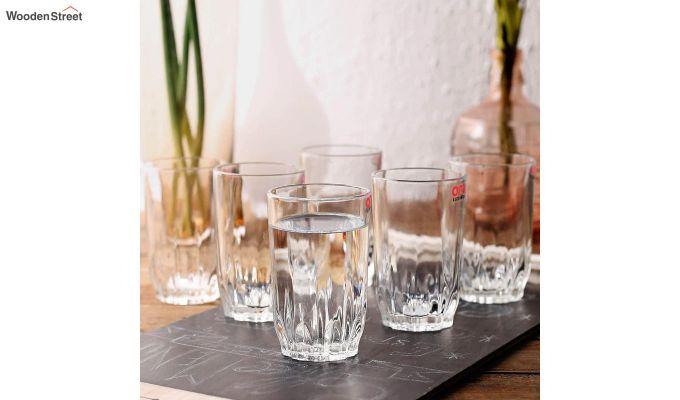 Stoneware 300 ML Ora Lotus Cut Everyday Glasses - Set of 6-1