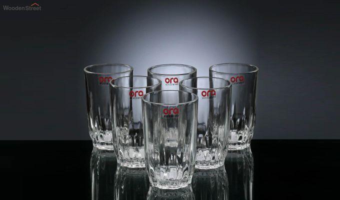 Stoneware 300 ML Ora Lotus Cut Everyday Glasses - Set of 6-2
