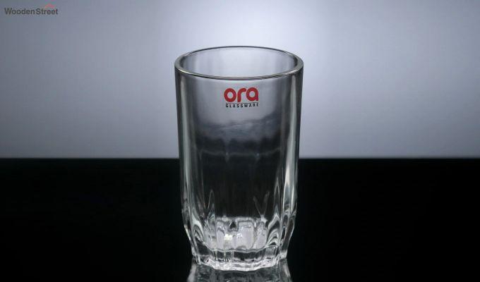 Stoneware 300 ML Ora Lotus Cut Everyday Glasses - Set of 6-3