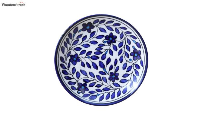 Ceramic Blue Spring Quarter Plates - Set of 4-2