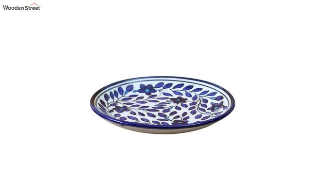 Ceramic Blue Spring Quarter Plates - Set of 4-4