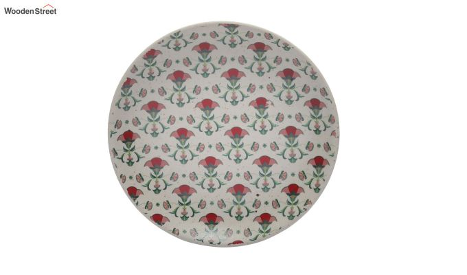 Ceramic Handcrafted Multicolour Stoneware Quarter Plates - Set of 4-3