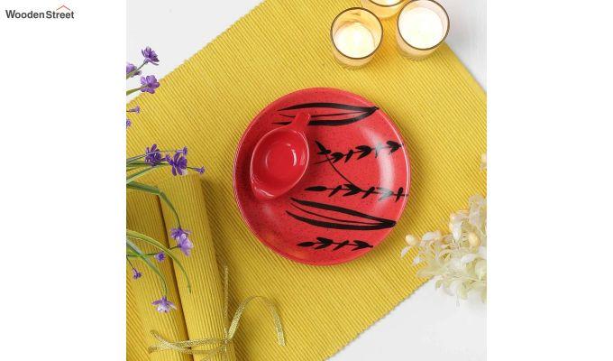 Ceramic Handcrafted Red Platter-1
