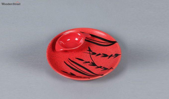 Ceramic Handcrafted Red Platter-2