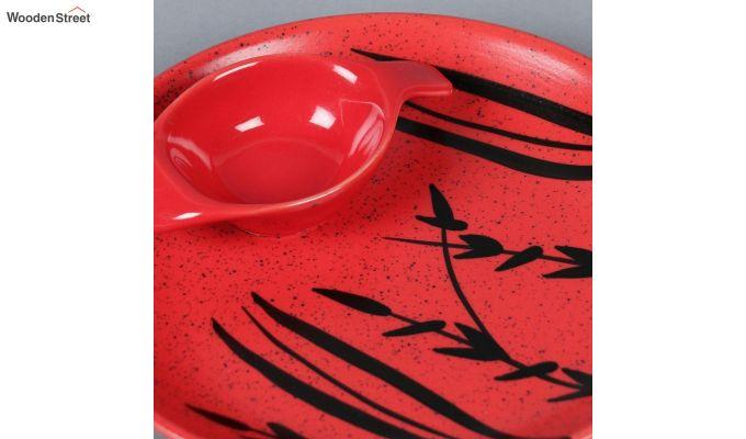 Ceramic Handcrafted Red Platter-4
