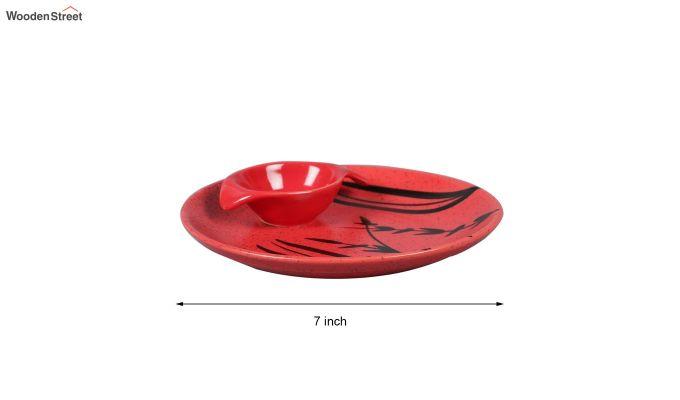 Ceramic Handcrafted Red Platter-6