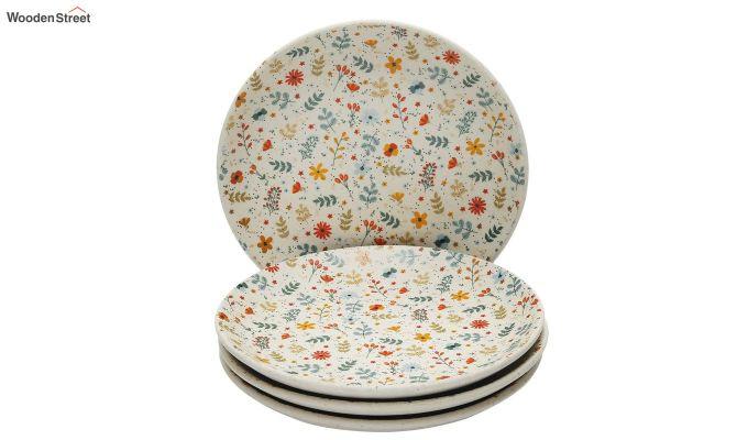 Ceramic Multicolour Handcrafted Quarter Plates - Set of 4-2