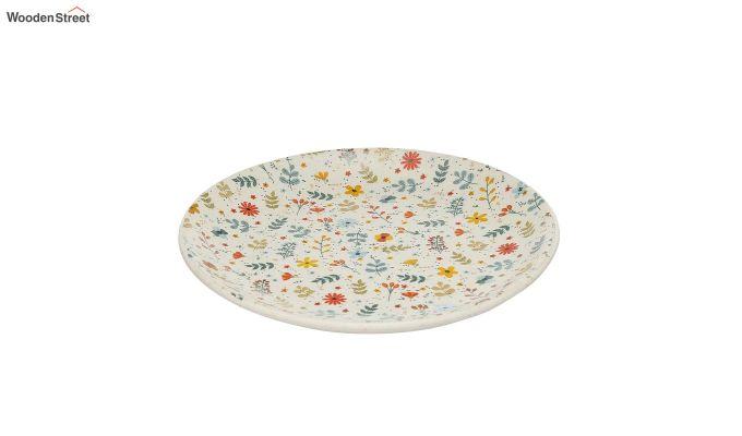 Ceramic Multicolour Handcrafted Quarter Plates - Set of 4-4