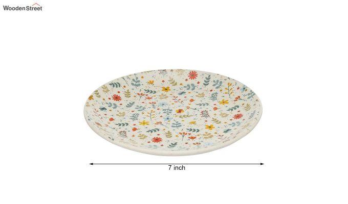 Ceramic Multicolour Handcrafted Quarter Plates - Set of 4-5