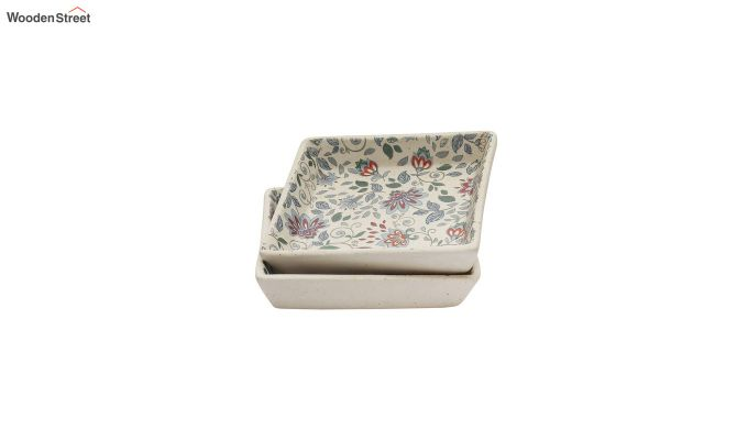 Ceramic Handcrafted Muliticolour Stoneware Platters - Set of 2-3