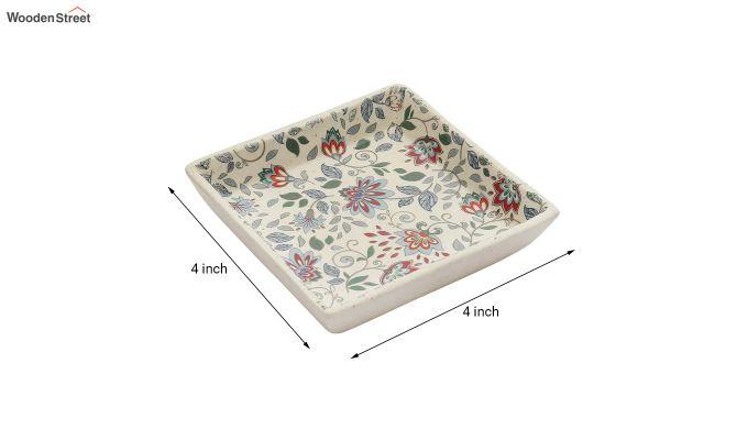 Ceramic Handcrafted Muliticolour Stoneware Platters - Set of 2-4