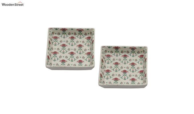 Ceramic Multicolour Square Platters - Set of 2-2