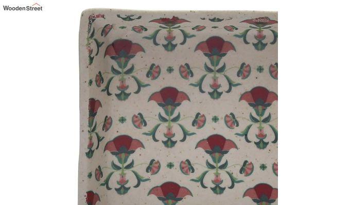 Ceramic Multicolour Square Platters - Set of 2-4