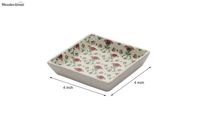 Ceramic Multicolour Square Platters - Set of 2-5