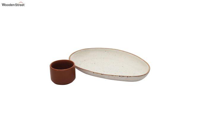 Ceramic Oval Platters - Set of 2-4