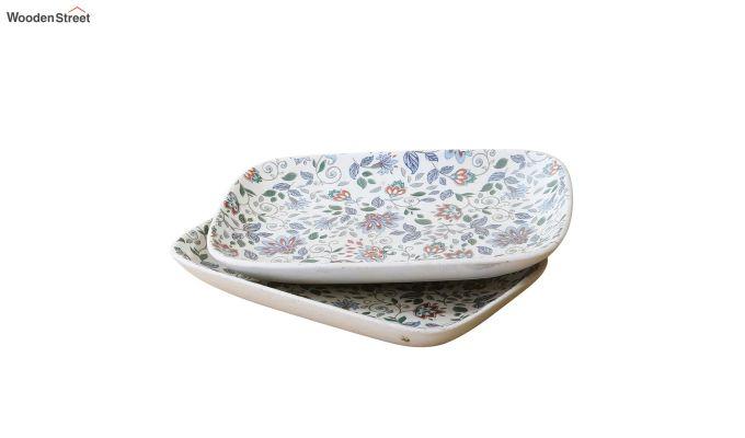 Ceramic Rectangle Multicolour Platters - Set of 2-3