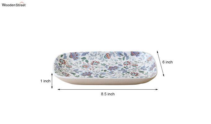 Ceramic Rectangle Multicolour Platters - Set of 2-6