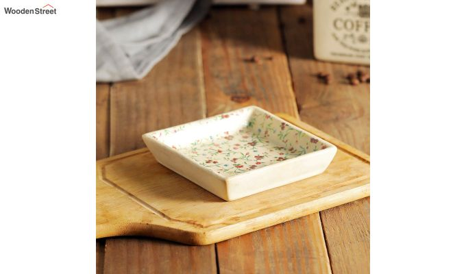 Stoneware Square Platters - Set of 2-1