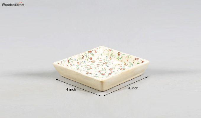 Stoneware Square Platters - Set of 2-5