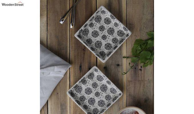 Stoneware Square Platters - Set of 4-1
