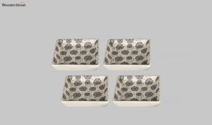 Stoneware Square Platters - Set of 4-2
