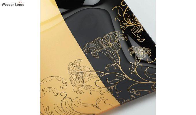 Transparent Tree Print Glass 6 Serving Plates & 1 Platter - Set of 7-3