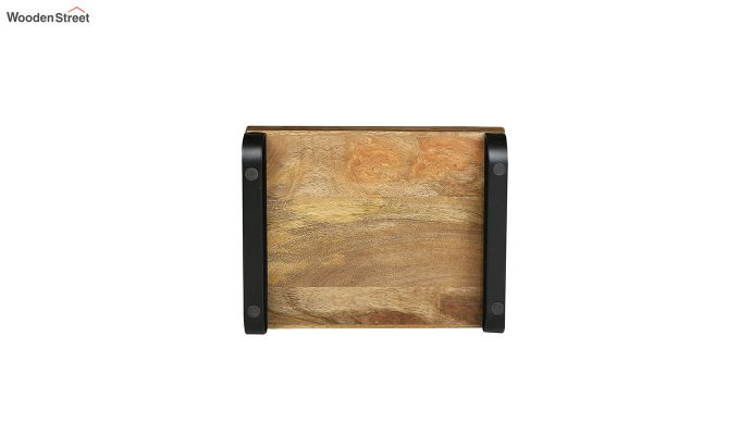 Mango Wood Medium Serving Tray with Bottom Metal Handle-5