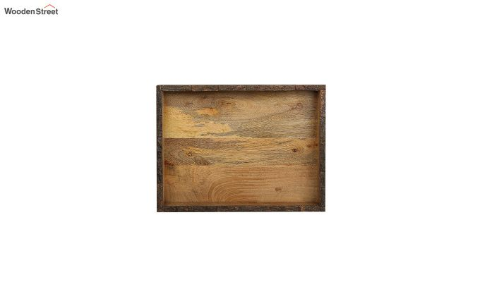 Mango Wood Rough Edge Border Large Serving Tray-3