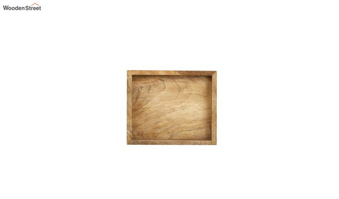 Mango Wood Small Serving Tray with Bottom Metal Handle-5
